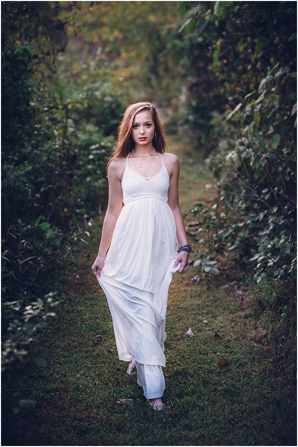 Angelic image of Raleigh, NC senior during session near Haw River
