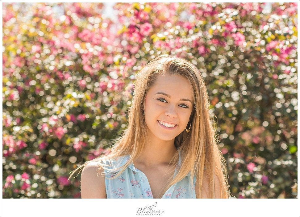 A beautifully sunlit senior portrait in Saxapahaw, NC.