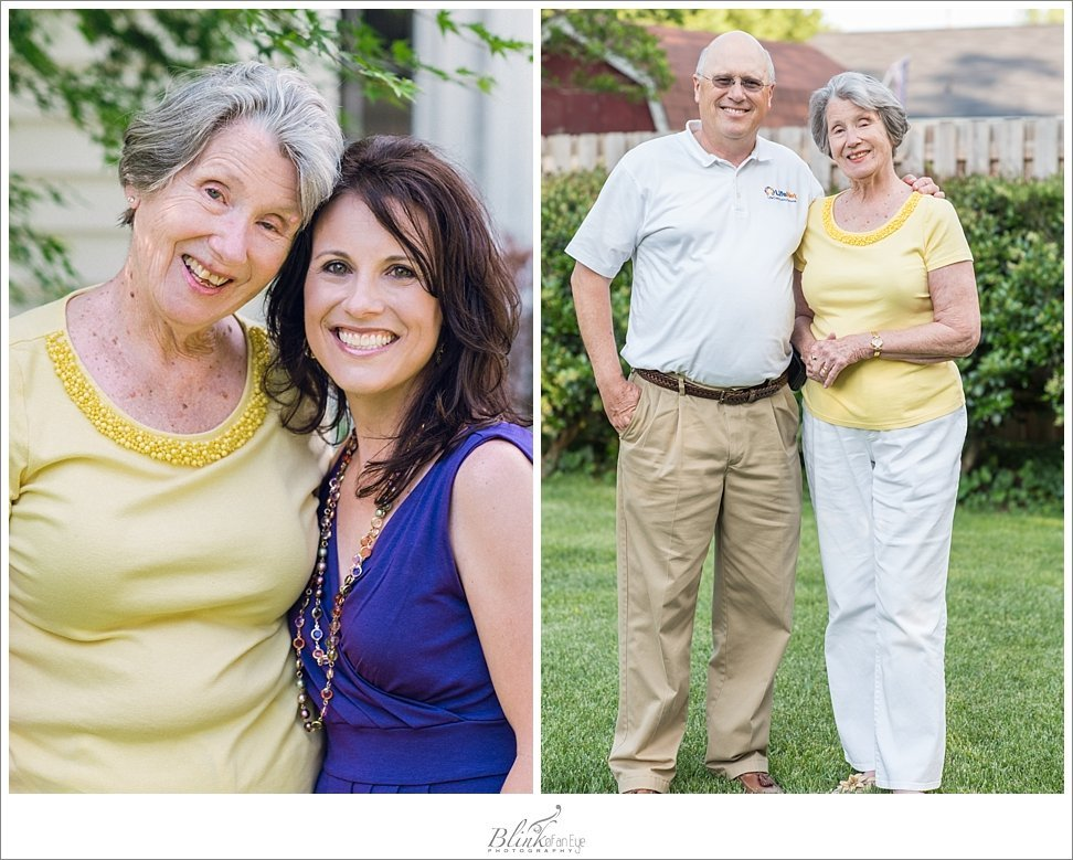 Me with my Grandma and my dad with his lovely mom in Burlington, NC backyard.