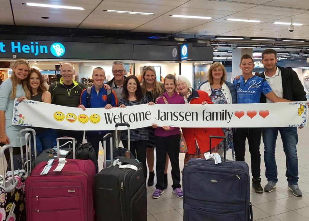Welcoming party at Schipol Airport from our Dutch family.