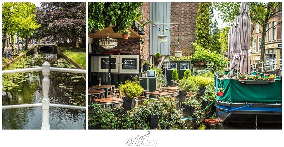 Restaurant along the canal in Delft.