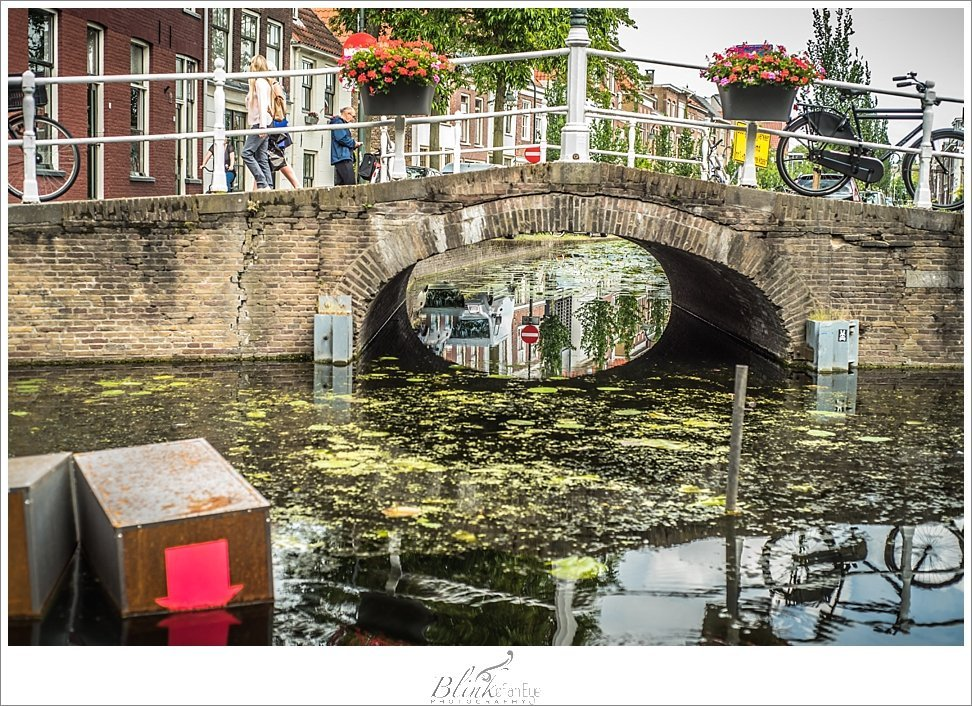 A bridge in Delft.