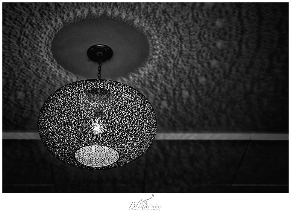 Gorgeous hanging lamp at Lunchcafe Vrij.