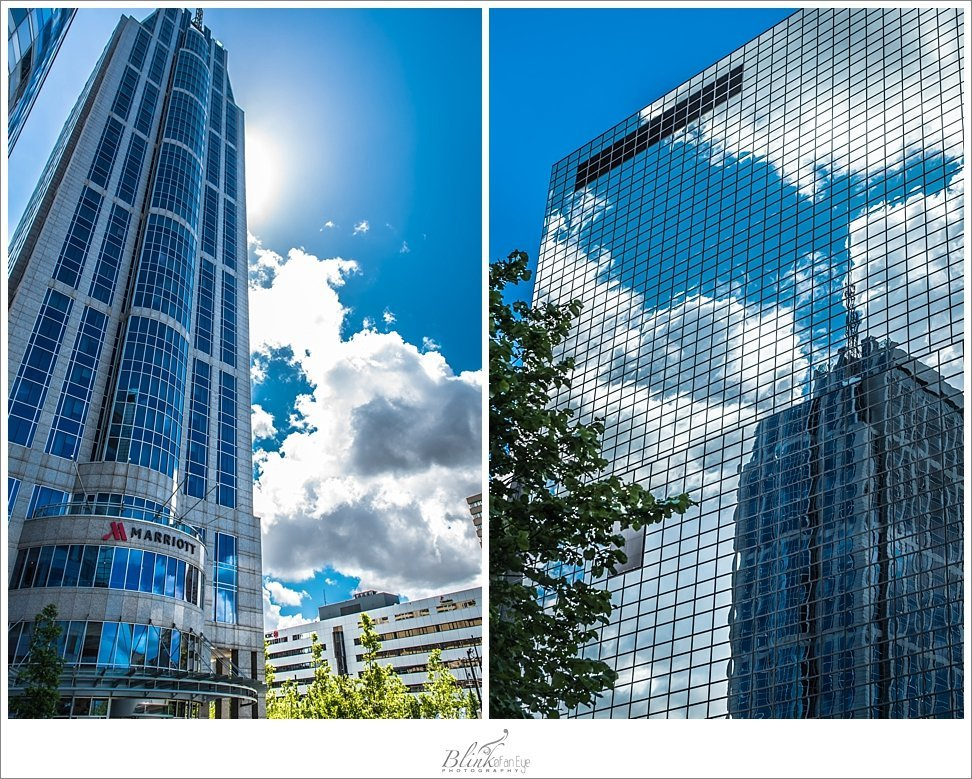 Business buildings in Rotterdam, The Netherlands.