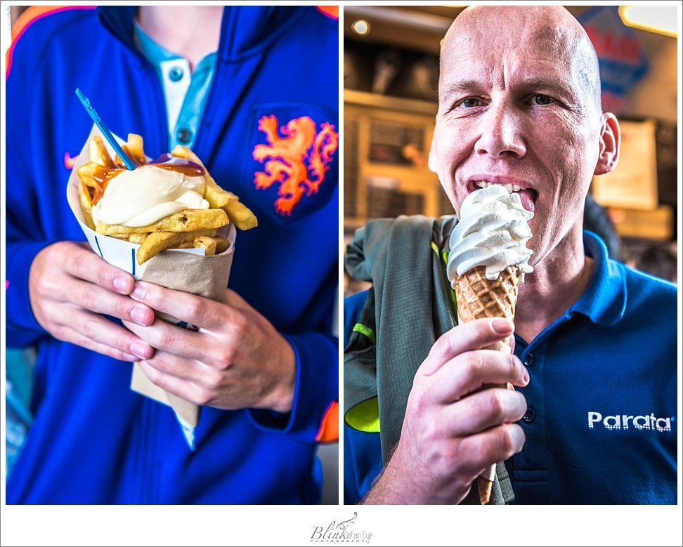 Patat and ice cream in Rotterdam.