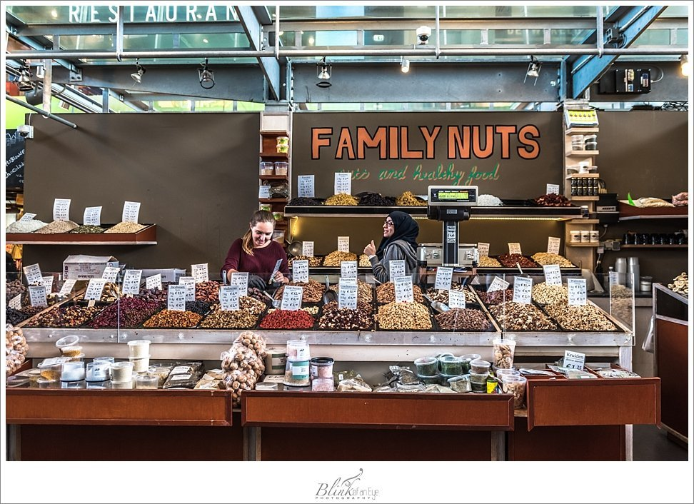 Nut stand in the Markthal in Rotterdam.