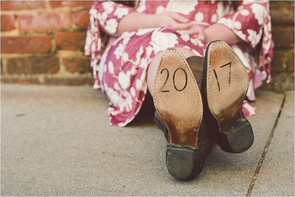 Boots with 2017 written on the bottom.