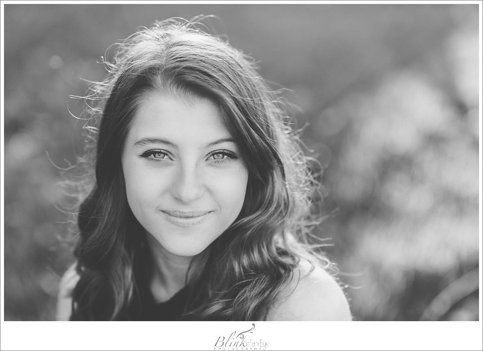 Gorgeous black and white senior portrait.