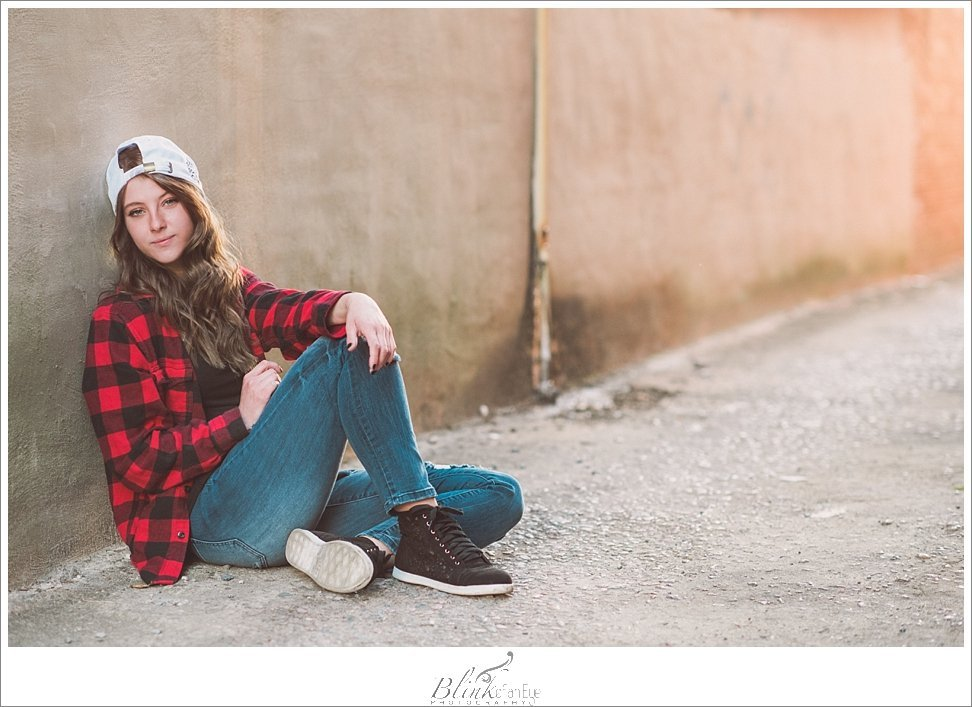 Hipster vibe for senior portraits in Graham, NC.