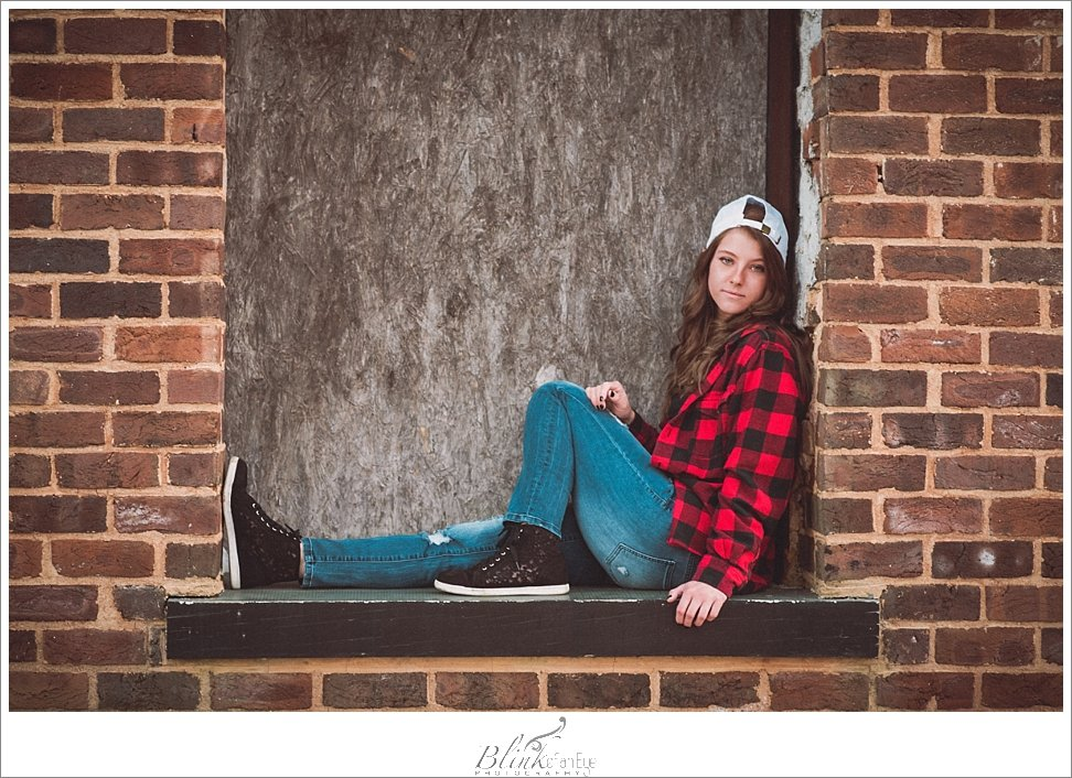 Downtown hipster vibes for this senior portrait.