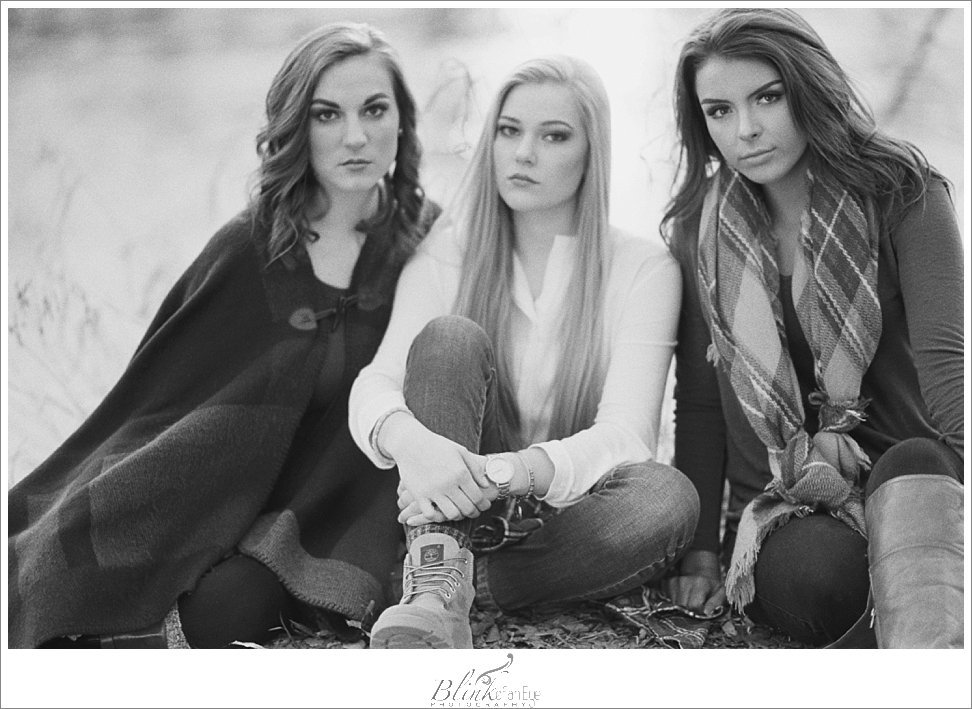 Black and White film portrait with models.