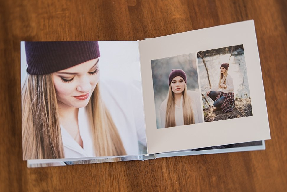 Stunning spread of fine art film session model in the Beautiful Album.