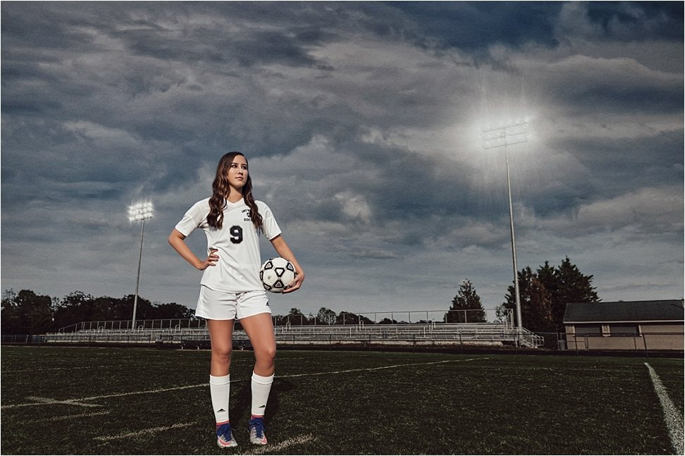 This Western Alamance Senior brings beauty and glamour to the soccer field.