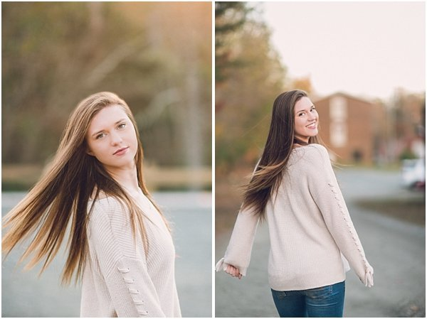 Love the movement created in these senior photos in Burlington, NC.
