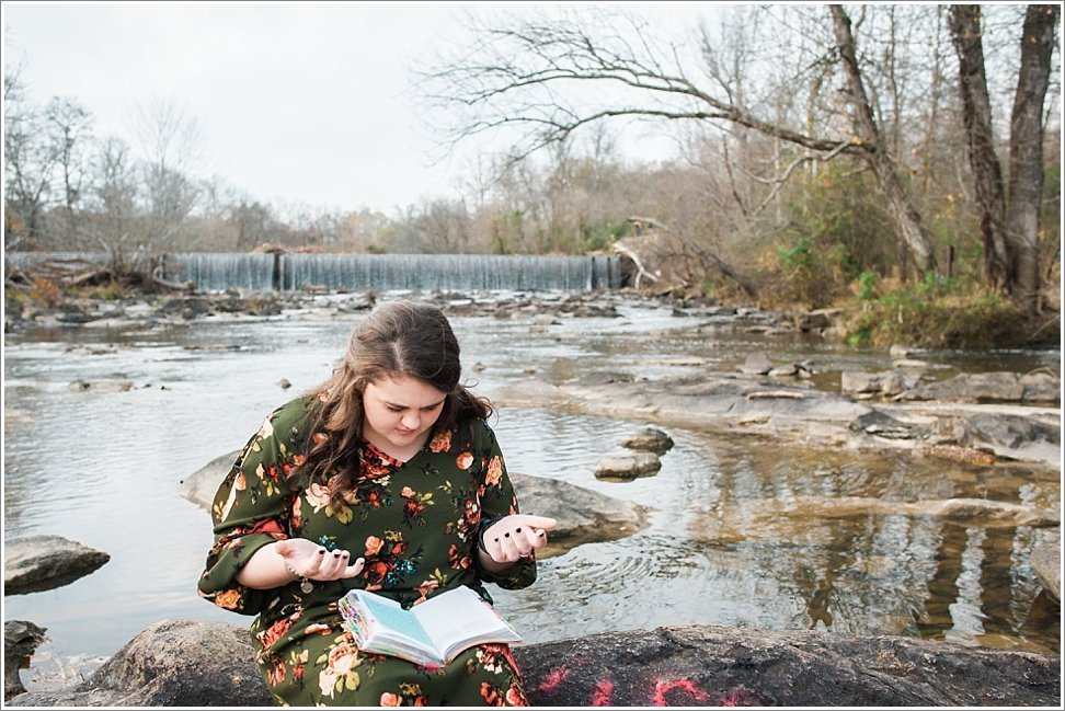 Love this senior girl's heart for God even in her Burlington, NC senior session.