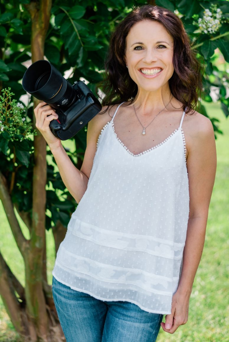 Photograph of Marie Janssen, owner and photographer at Blink of an Eye Photography in Burlington, NC.