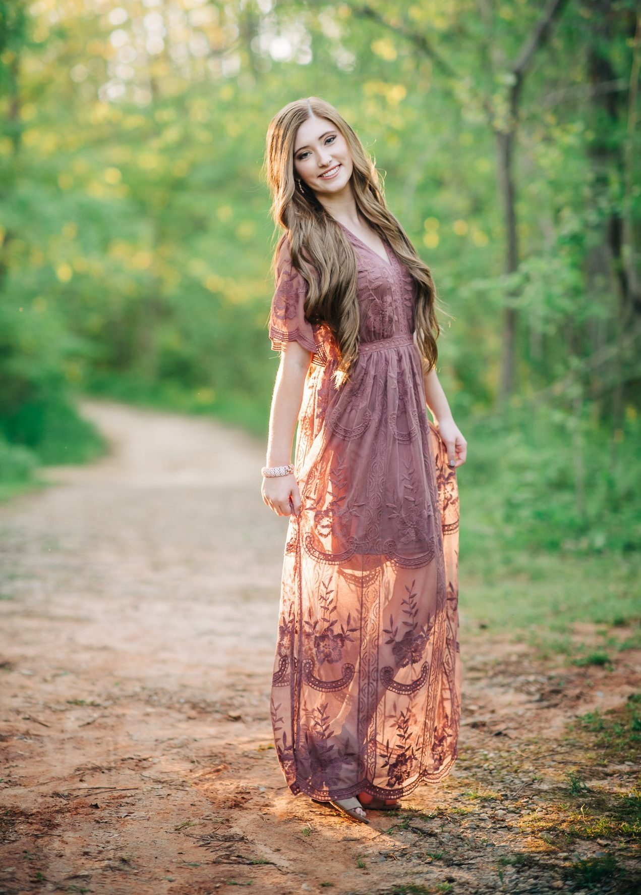 Romantic Senior session along the Haw River in Burlington, NC.