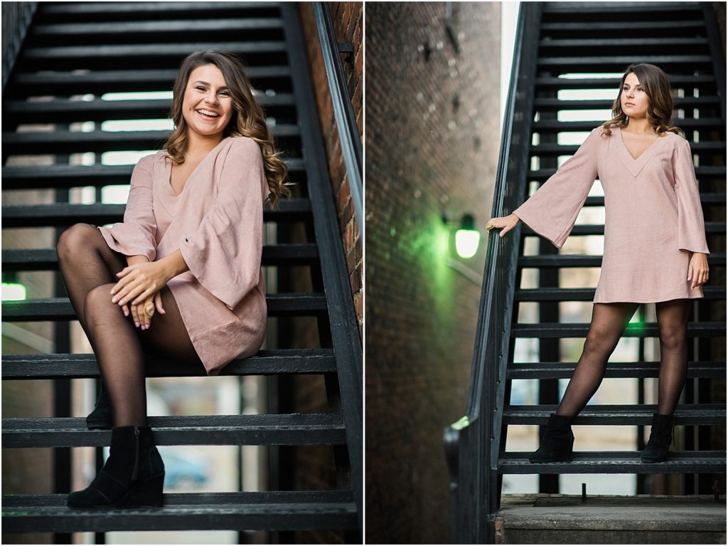 An urban senior session in downtown Mebane, NC.