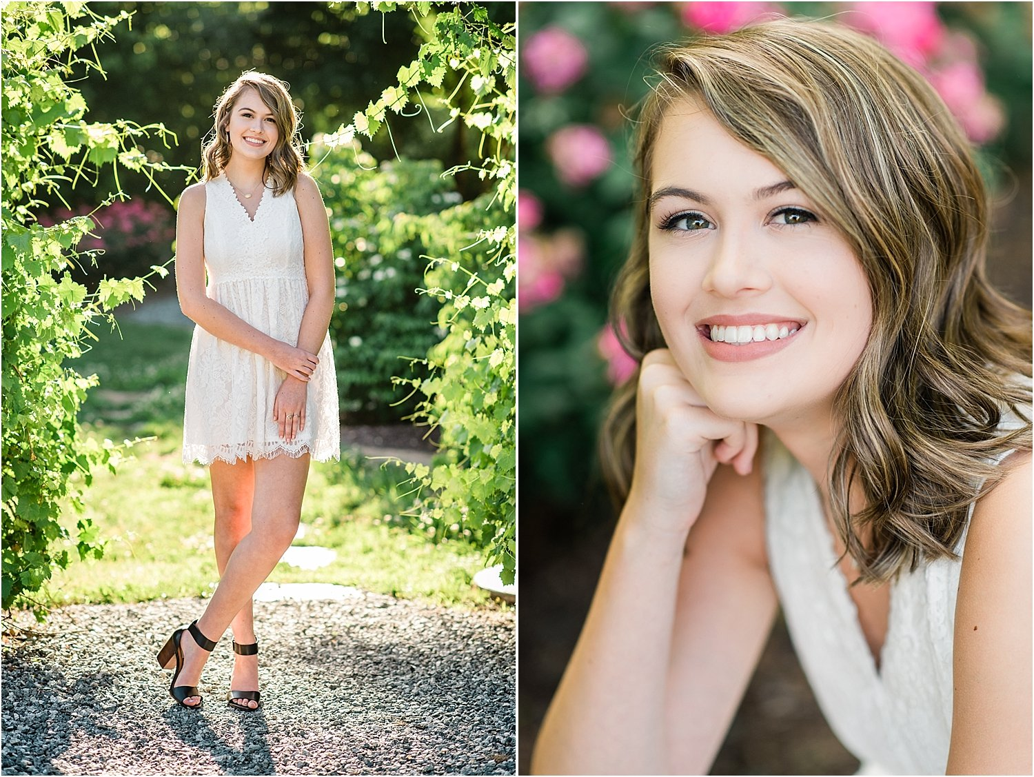 Beautiful Spring senior portraits in Historic Glencoe Mill Village.