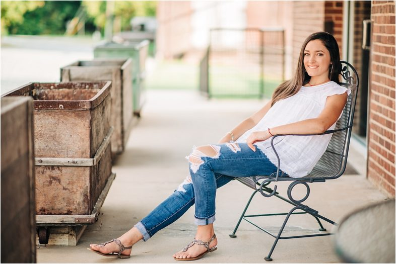 Love this relaxed pose and the beautiful lighting in this senior portrait.