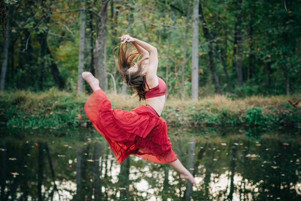 Gorgeous dance portrait taken in the fall in Burlington, NC.